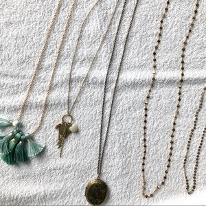 Jewelry - Set of 5 various long necklaces